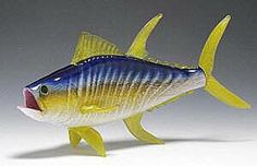 72a962bc9b1 GlassMaster Adam Kaser s creation of Yellowfin Tuna. Glass replica of  popular salt water game fish. Artist signed and dated. Shown in small  approx Available ...