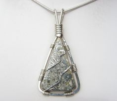 Native Silver Pendant  Sterling Silver Wire by SilverAndStoneWorks