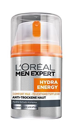 L'Oréal Paris Men Expert Hydra Energy Feuchtigkeitscreme Comfort Max, Pack x 50 ml) L'oréal Paris, Skin Cream, Loreal, Drink Bottles, Men, Vitamin E, Faces, Tips, Dry Skin
