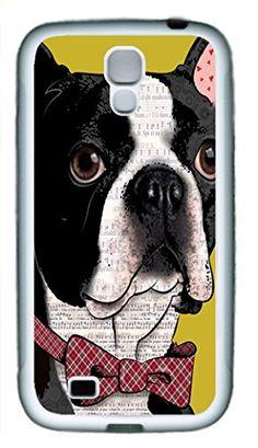 wskshop Customized Samsung Galaxy S4 Case, Music Boston Terrier TPU Soft Case for Samsung Galaxy S4 (White Border) wskshop phone cases