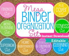 EDITABLE and INSTANT DOWNLOAD Home Binder by HappyOrganizedLife, $45.00