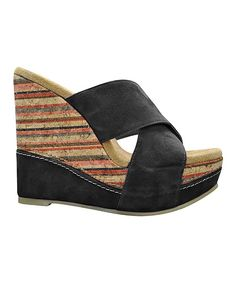 8ad10f4e41 Take a look at this Black Pantry Wedge on zulily today! All About Shoes,