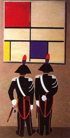 Omaggio a Mondrian, 1957 by Pippo Rizzo (Italian 1897-1964)