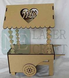 Candy cart centre pieces, Wood, MDF, NE Laser Craft Limited, Flat packed