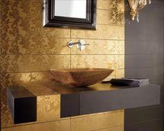 gold paint bathroom ideas | Great Bathroom Tile Ideas - www.nicespace.me