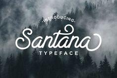 Santana Script - Intro Sale 30%  by Shiro Std on @creativemarket