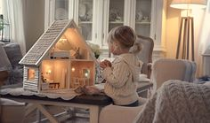 beautiful doll house.. Gorgeous lighting. Great image for advertising FF