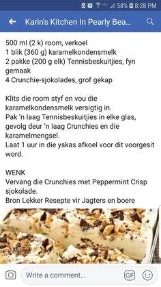 Tart Recipes, Pudding Recipes, Baking Recipes, Cookie Recipes, Guava Desserts, Fun Desserts, Peppermint Crisp, Sweet Tarts, Lunch Snacks