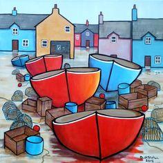Quay works, Acrylic painting by Paul Bursnall | Artfinder