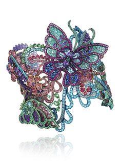 Chopard_Bracciale rigido in titanio multicolore con spinelli, tormaline Paraiba, tzavoriti, ametiste, rubini, smeraldi e topazi