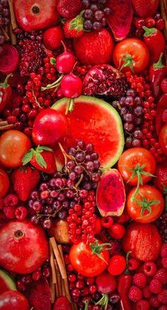 Sandía,tomates y frutos rojos