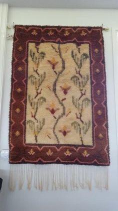 Sammaleen kukka- ryijy Rya Rug, Anna, Carpet, Tapestry, Blanket, Rugs, Eggs, Hanging Tapestry, Farmhouse Rugs