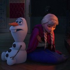 Disney Frozen Anna and Olaf Disney Frozen Elsa, Anna Frozen, Olaf Frozen, Frozen Movie, Disney And Dreamworks, Disney Pixar, Walt Disney, Disney Cartoons, Snow Queen