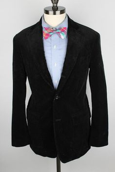 Polo Ralph Lauren Dark Green Corduroy Cotton 38 R mens Sport Coat Blazer #PoloRalphLauren #ThreeButton
