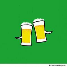 充滿寓意畫中有話的插畫 Tang Yau Hoong | ㄇㄞˋ點子靈感創意誌 Cheers,乾杯!!!