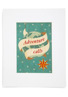 Attention Travelers Print. When youre in between international trips, relive your journeys by hanging this travel-themed print among photos of your many sojourns! #multi #modcloth