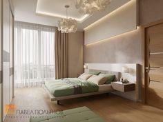 Фото: Спальня - Интерьер дома в современном стиле, коттеджный поселок «Небо», 272 кв.м.