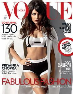 Priyanka Chopra for Vogue India March 2013