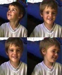 little bieber... awe he was and still is sooooooooo cute