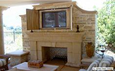 fireplace privacy, w/ TV