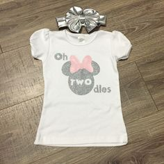FREE SHIPPING!  Minnie Mouse Birthday Shirt, Oh Twodles Shirt, Two Shirt, Girls 2nd Birthday Shirt, Minnie Mouse Top by SunshineChloeCrafts on Etsy https://www.etsy.com/listing/475301135/free-shipping-minnie-mouse-birthday