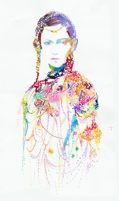 WOW  Fashion Illustration Watercolour Print of by silverridgestudio