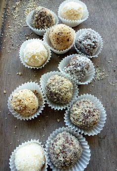 Auch in der Vollwertküche darf genascht werden: Kokoskonfekt und Schoko-Nuss-konfekt