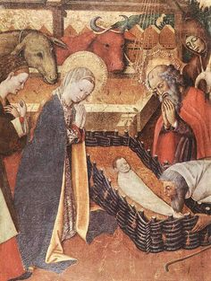 "Obra de Bernard Martorell,intitulada  ""A Natividade"" ,de1440."