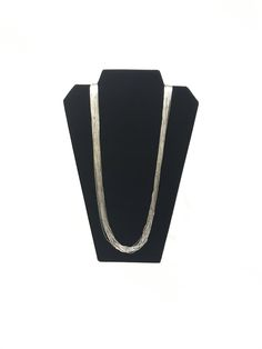 Just in: Liquid Sterling Silver 30 Strand Necklace https://www.etsy.com/listing/562832443/liquid-sterling-silver-30-strand?utm_campaign=crowdfire&utm_content=crowdfire&utm_medium=social&utm_source=pinterest