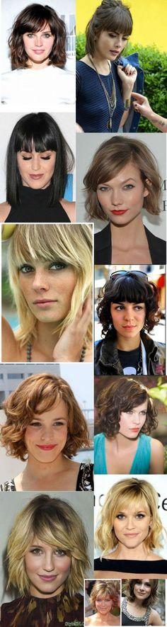 cabelos com franja