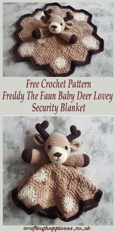 Crochet Pattern: Freddy The Fawn Baby Deer Lovey Security Blanket Häkelanleitung Freddy The Faun Baby Deer Lovey Sicherheitsdecke Gratis Häkelanleitung – Glück basteln Baby stuff (Visited 6 times, 1 visits today) Crochet Blanket Patterns, Baby Blanket Crochet, Knitting Patterns, Crochet Blankets, Lovey Blanket, Crochet Deer, Free Crochet, Crochet Lovey Free Pattern, Easy Crochet Animals