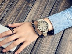 . Quartz, Watches, Casual, Leather, Accessories, Products, Dining Room, Wrist Watches, Wristwatches