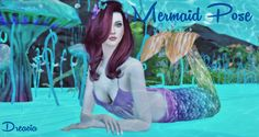 Sims 4 CC's - The Best: Mermaid Posepack by Dreacia