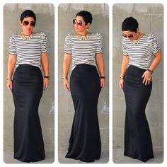#DIY Fishtail Maxi + #DIY Puff Sleeve Top + Pattern Review B5562 |Fashion, Lifestyle, and DIY