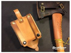 MOLLE compatible axe Holster in leather by BushgearLeatherworks