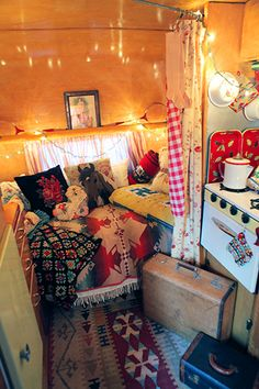 I would like to think that if I lived in a traveling caravan, it would look like this.