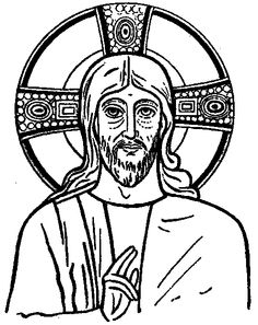 Catholic Coloring Page: Icon of Christ