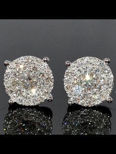 These earrings are so pretty for a special occasion, size .10Ct, would be perfect size..