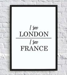 I See London, I See France – Funny Bathroom Wall Decor Print Digital Downl - Woodsupply Bathroom Humor, Bathroom Wall Decor, Small Bathroom, Master Bathroom, Brown Bathroom, Bathroom Ideas, Master Closet, Bathroom Signs Funny, Mosaic Bathroom