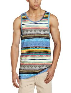 LRG Men's Unnatural Tank Top, Black, Small - The 147-percent unnatural tank top is constructed of jersey slub featuring a contrasting pattern and chest pocket with custom embroidery, logo hits at the neckline and hem Product Features  Jersey slub Cus