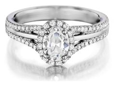 Check out this gorgeous Henri Daussi handmade engagement ring, available in your choice of metals!!