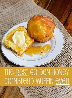 How to Make the PERFECT honey Cornbread muffin! is part of Corn bread Muffins - 4 cup honeySpecial equipment paper muffin cups and a Food Network Recipes, Cooking Recipes, Honey Cornbread, How To Make Cornbread, Corn Muffins, Sweet Cornbread Muffins, Stick Of Butter, Muffin Recipes, Bread Recipes