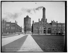 Water tower and shop's entrance, Pullman, Ill's. Library of Congress