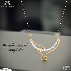 """Fine taste is easy to recognize. Diamond Mangalsutra, Gold Mangalsutra Designs, Gold Earrings Designs, Gold Jewellery Design, Necklace Designs, Bridal Jewelry, Beaded Jewelry, India Jewelry, Trendy Jewelry"