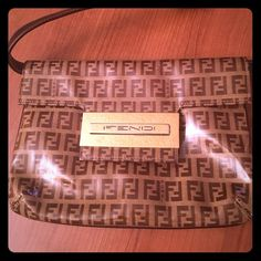 Authentic Vintage Fendi bag It can be use as a clutch for a fancy dinner!;) FENDI Bags Shoulder Bags