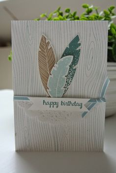 Four Feathers Stampin Up by Cards and Scrapping