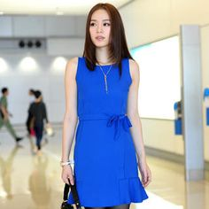 Buy '59th Street – Sleeveless Ruffle Hem Dress with Sash' with Free Shipping at YesStyle.com.au. Browse and shop for thousands of Asian fashion items from Hong Kong and more!