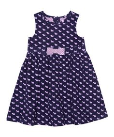 Take a look at this Navy Scottie Dog A-Line Dress - Infant, Toddler & Girls by JoJo Maman Bébé on #zulily today!