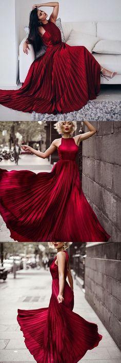 Gorgeous Dark Red Long Prom Dress Evening Dress,31