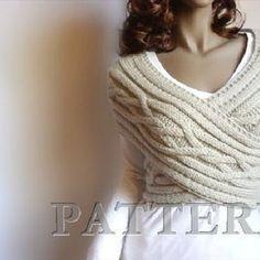 Knitting Pattern Knit Sweater cowl Vest Waistcoat pattern PDF | Etsy Knit Cowl, Knit Cardigan, Scarf Knit, Cable Knitting, Knit Jacket, Knit Vest Pattern, Lace Knitting Patterns, Hand Knitted Sweaters, Knitted Owl